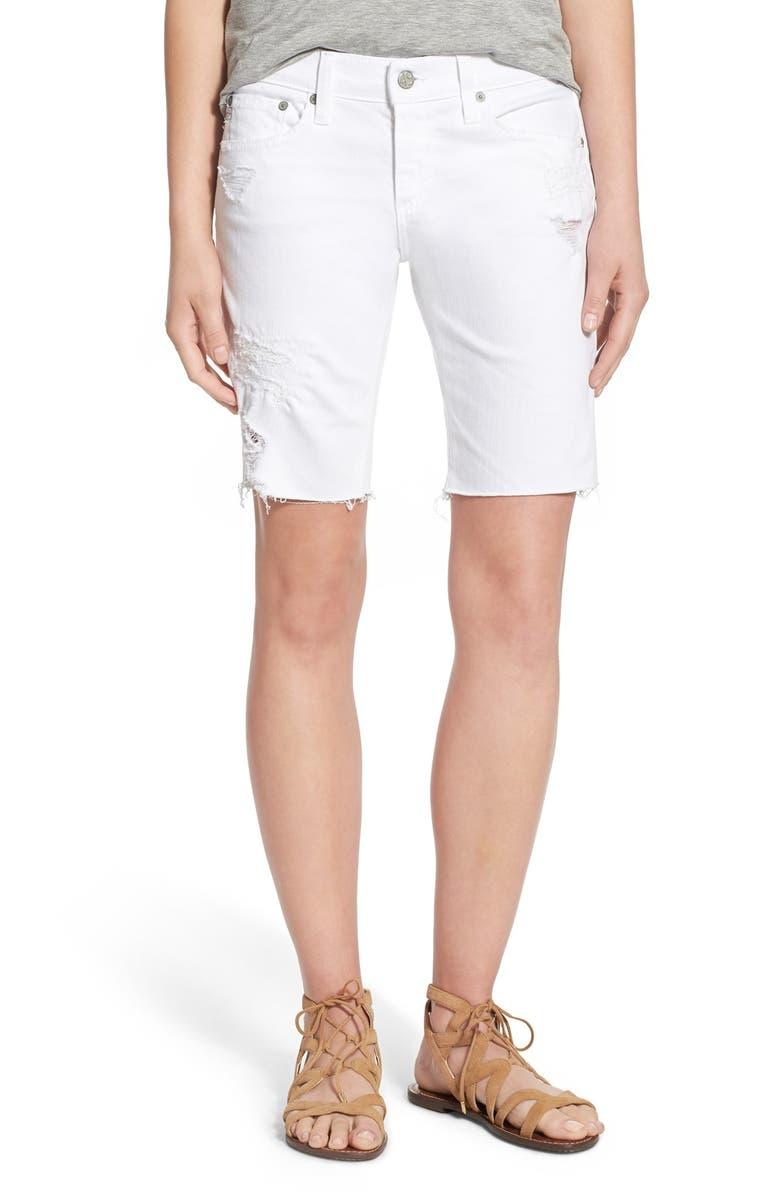 'Nikki' Cutoff Denim Bermuda Shorts