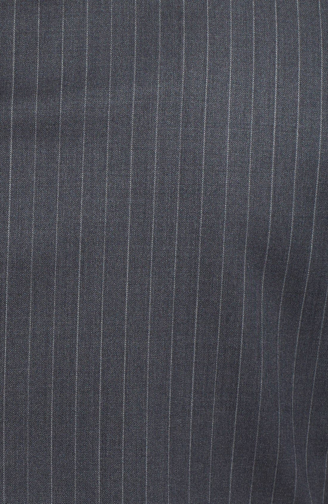New York Classic Fit Stripe Wool Suit,                             Alternate thumbnail 8, color,                             Grey