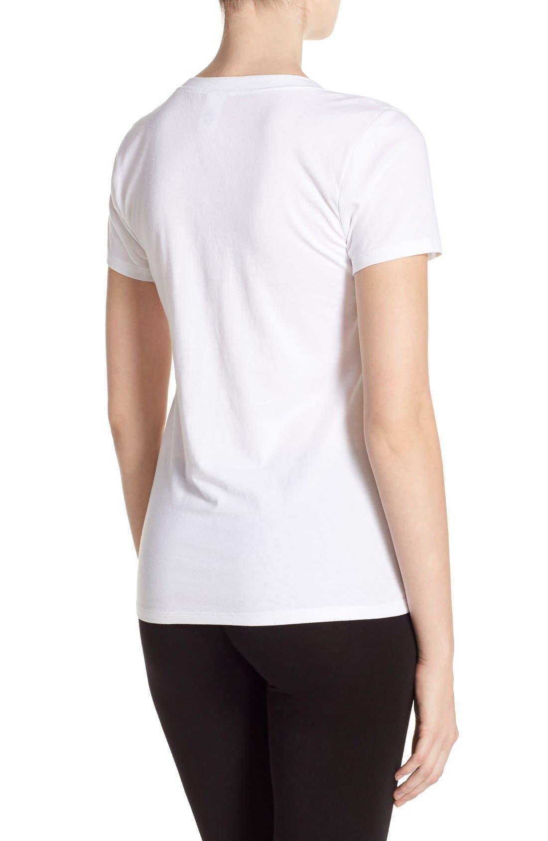 Alternate Image 2  - Calvin Klein V-Neck Logo Tee