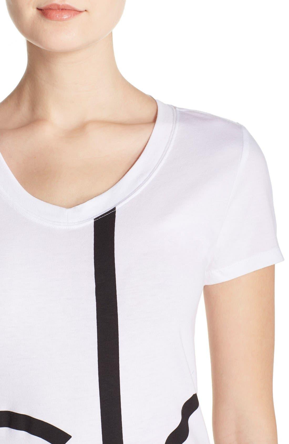 Alternate Image 4  - Calvin Klein V-Neck Logo Tee