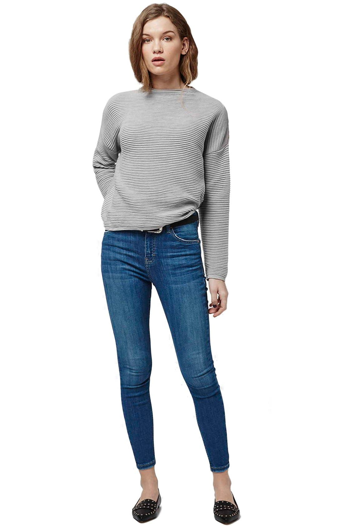 Alternate Image 2  - Topshop Ribbed Pullover Sweater