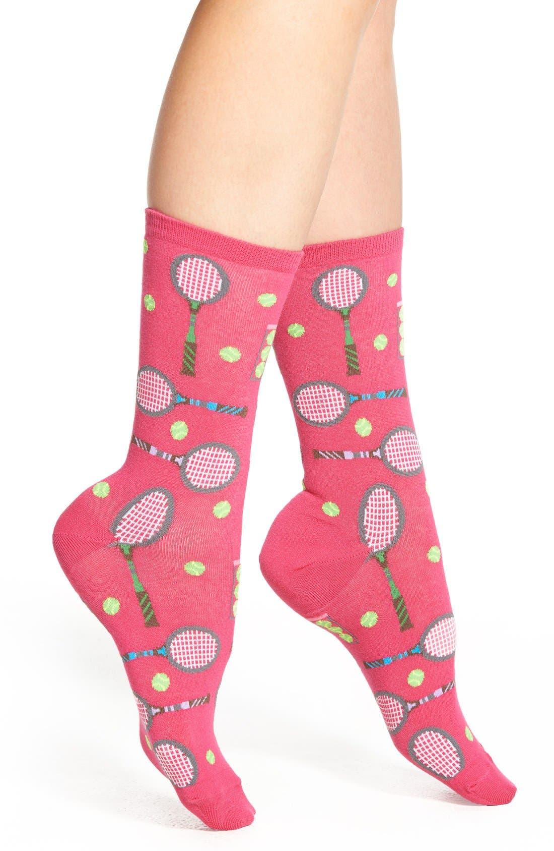 'Tennis' Crew Socks,                         Main,                         color, Daiquiri