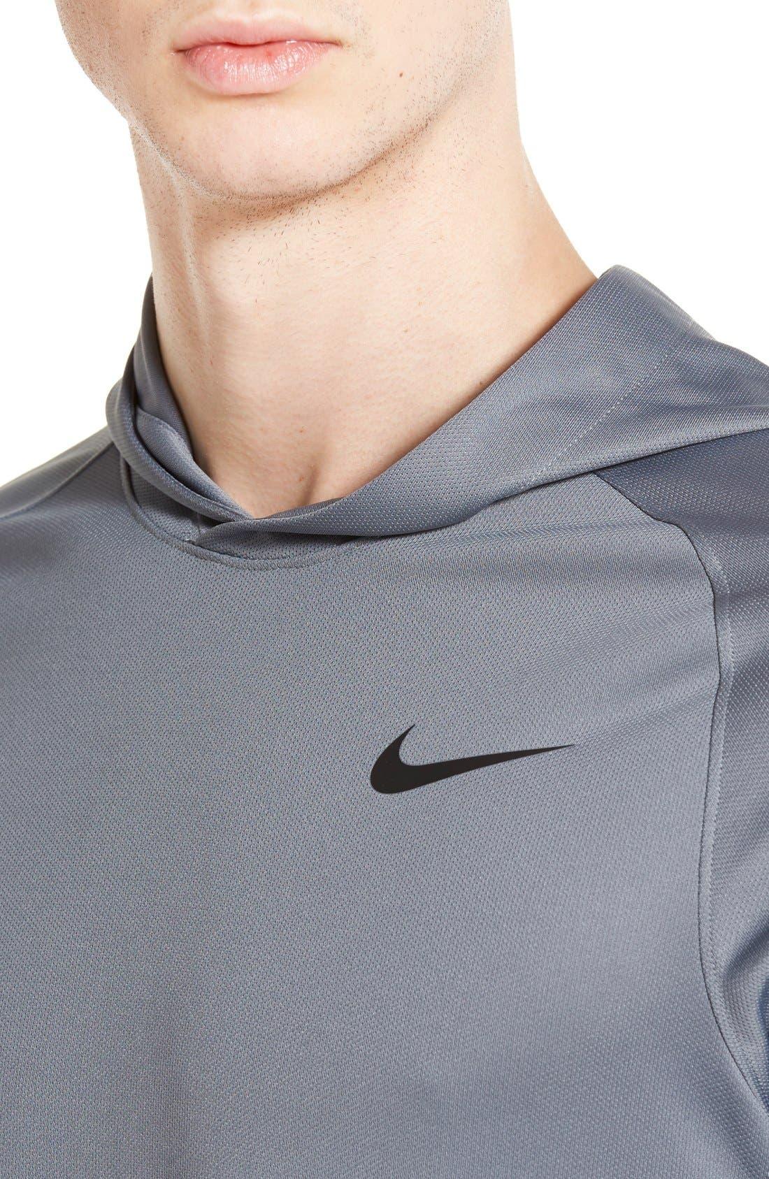 Alternate Image 4  - Nike 'Elite Shooter - Dri-FIT' Long Sleeve Hooded Basketball Shirt
