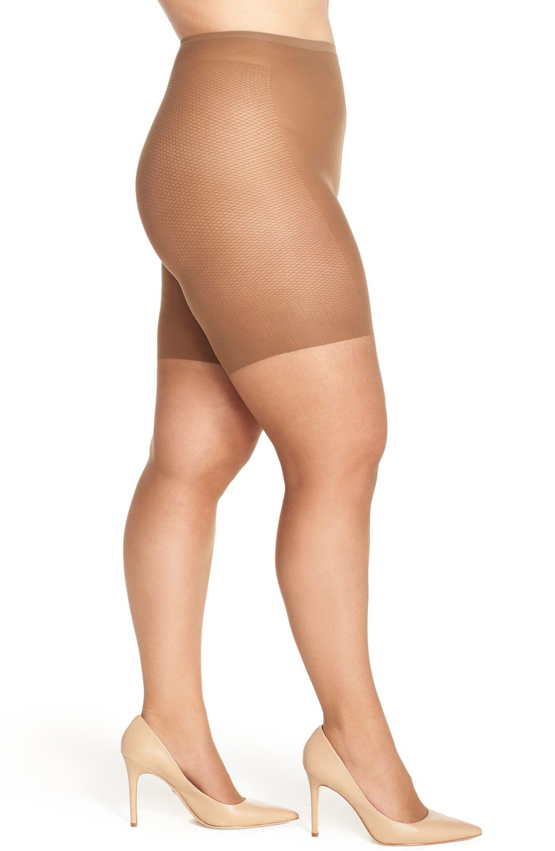 Alternate Image 1 Selected - Berkshire Light Control Top Pantyhose (Plus Size)