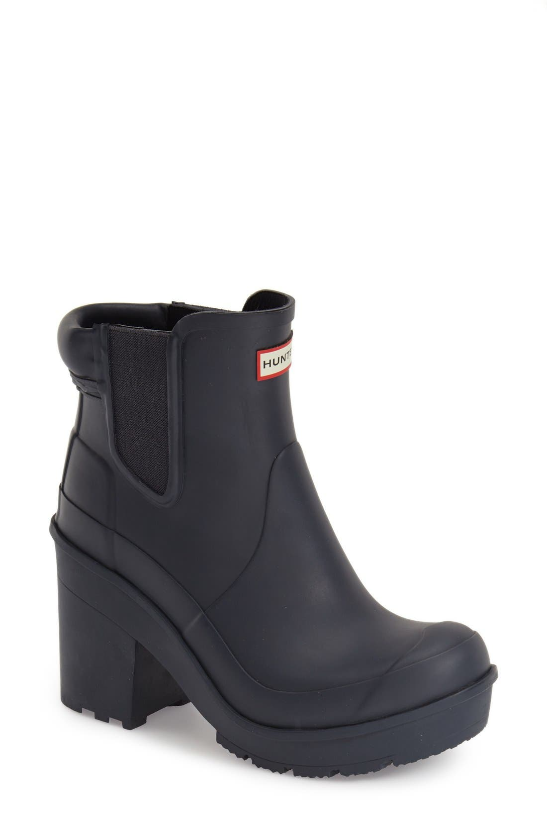 Main Image - Hunter 'Original - Block Heel' Chelsea Rain Boot (Women)