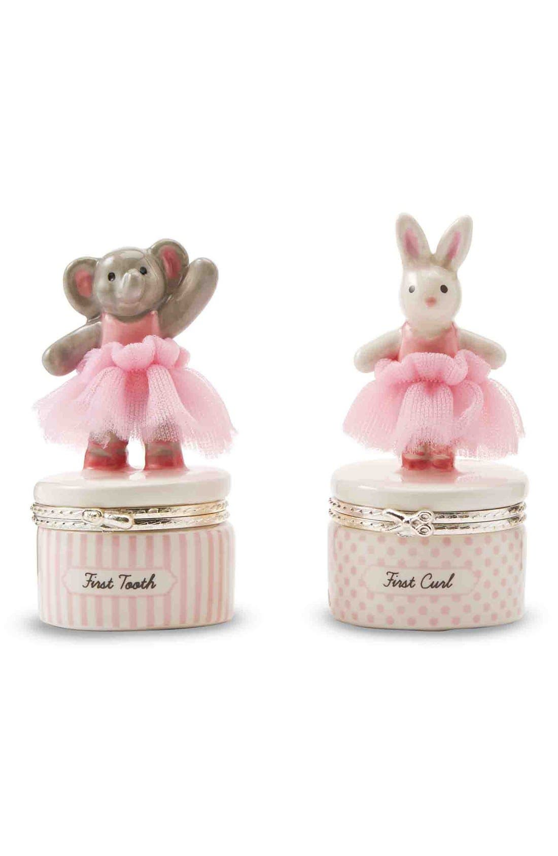 First Tooth & Curl Treasure Box Set,                             Main thumbnail 1, color,                             Pink