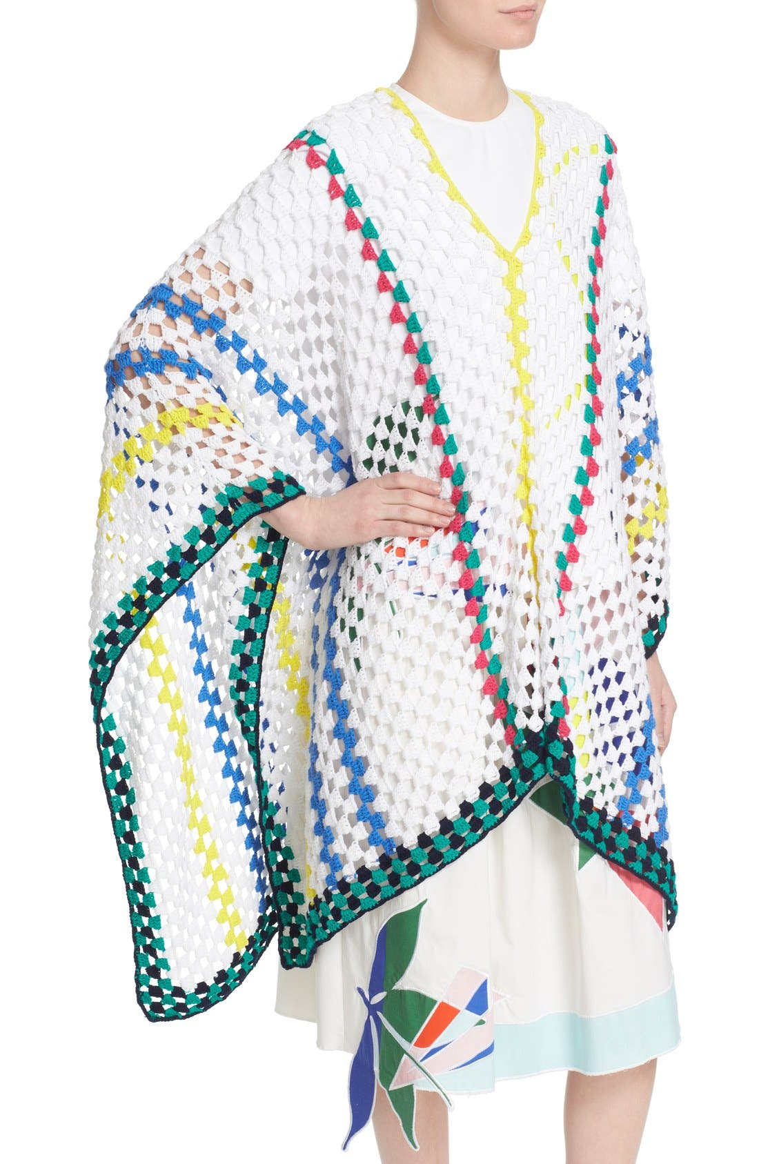 Alternate Image 6  - Mira Mikati Stripe Crochet Poncho