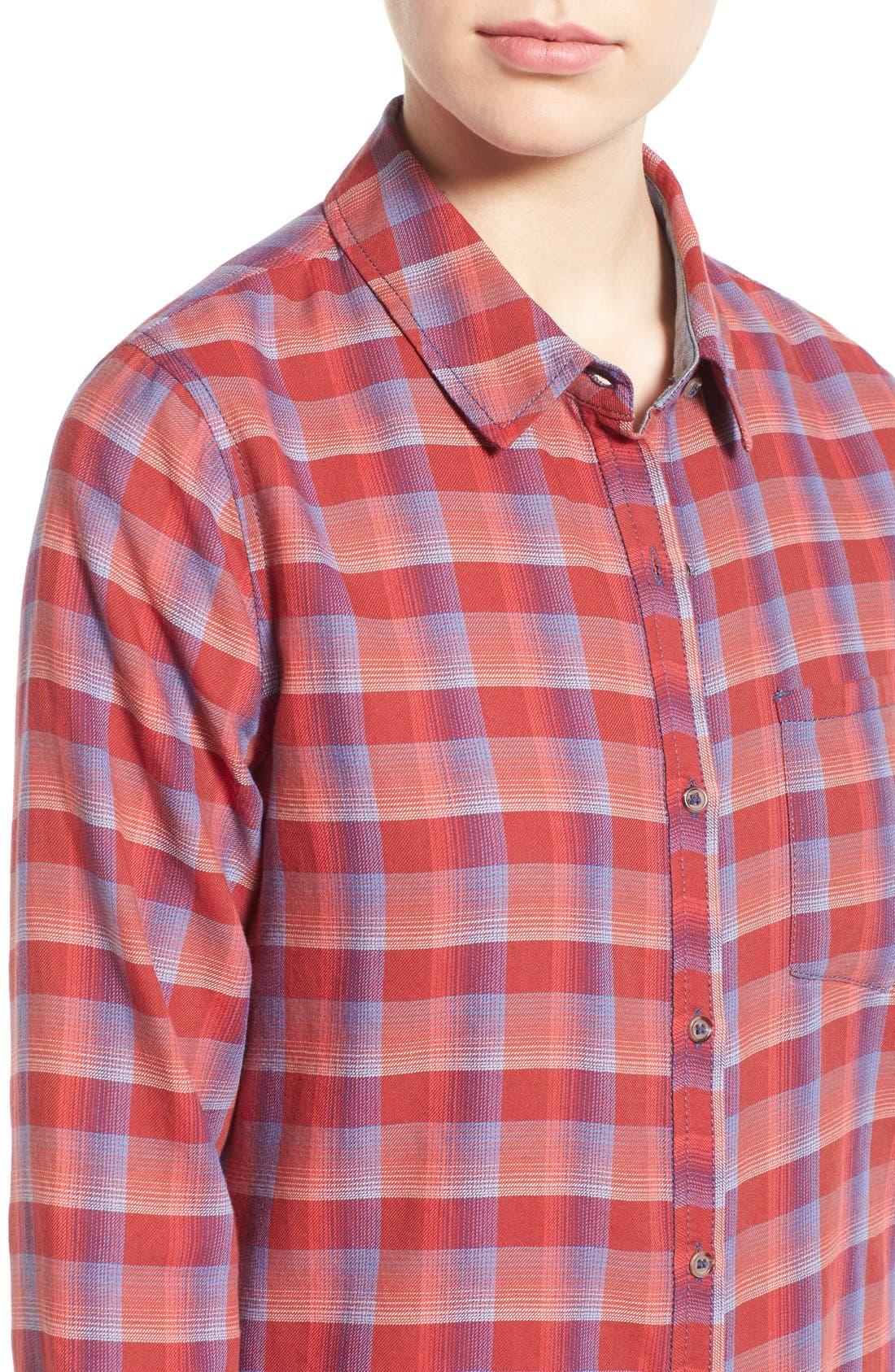 Alternate Image 5  - Treasure&Bond Cotton Plaid Shirt