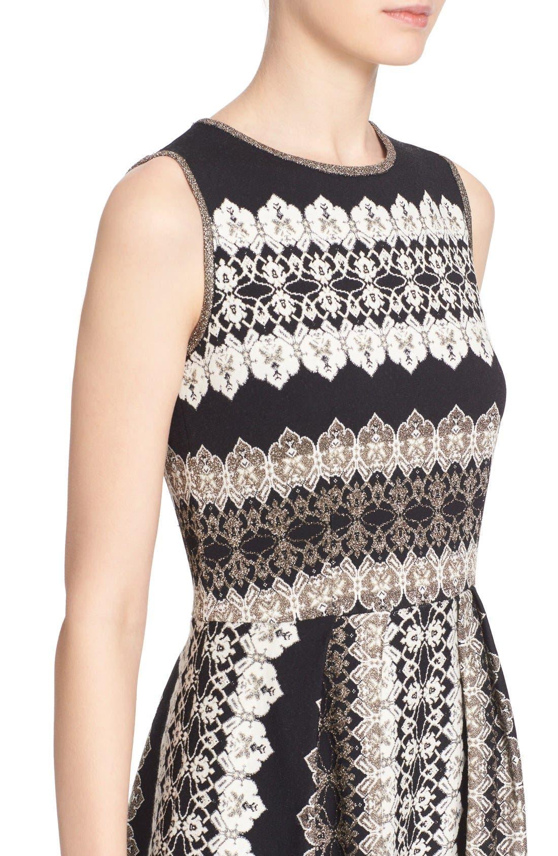 Alternate Image 6  - St. John Collection Jeweled Shimmer Knit Dress