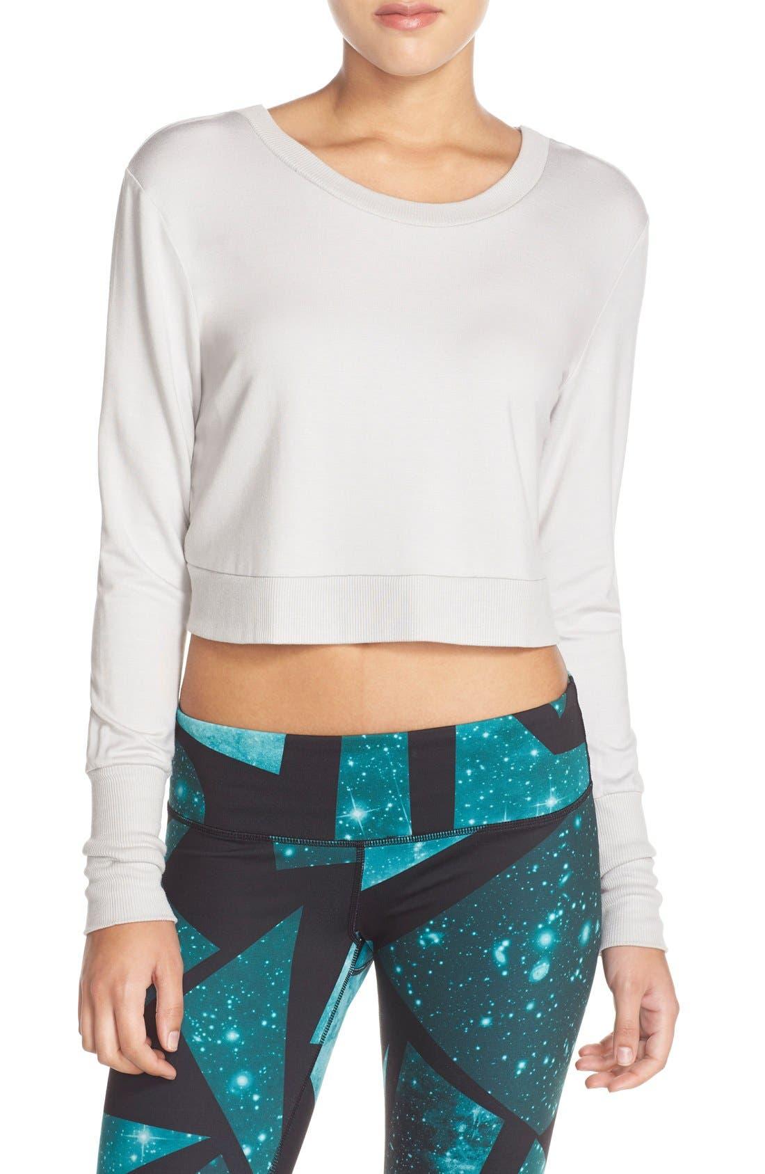 Alternate Image 2  - Alo 'Ava' Cross Back Crop Sweater
