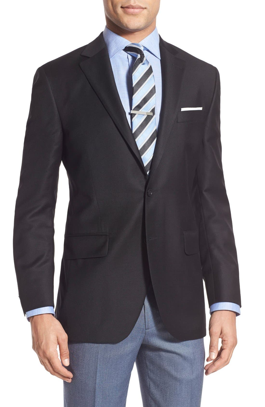 'Flynn' Classic Fit Wool Blazer,                         Main,                         color, Black