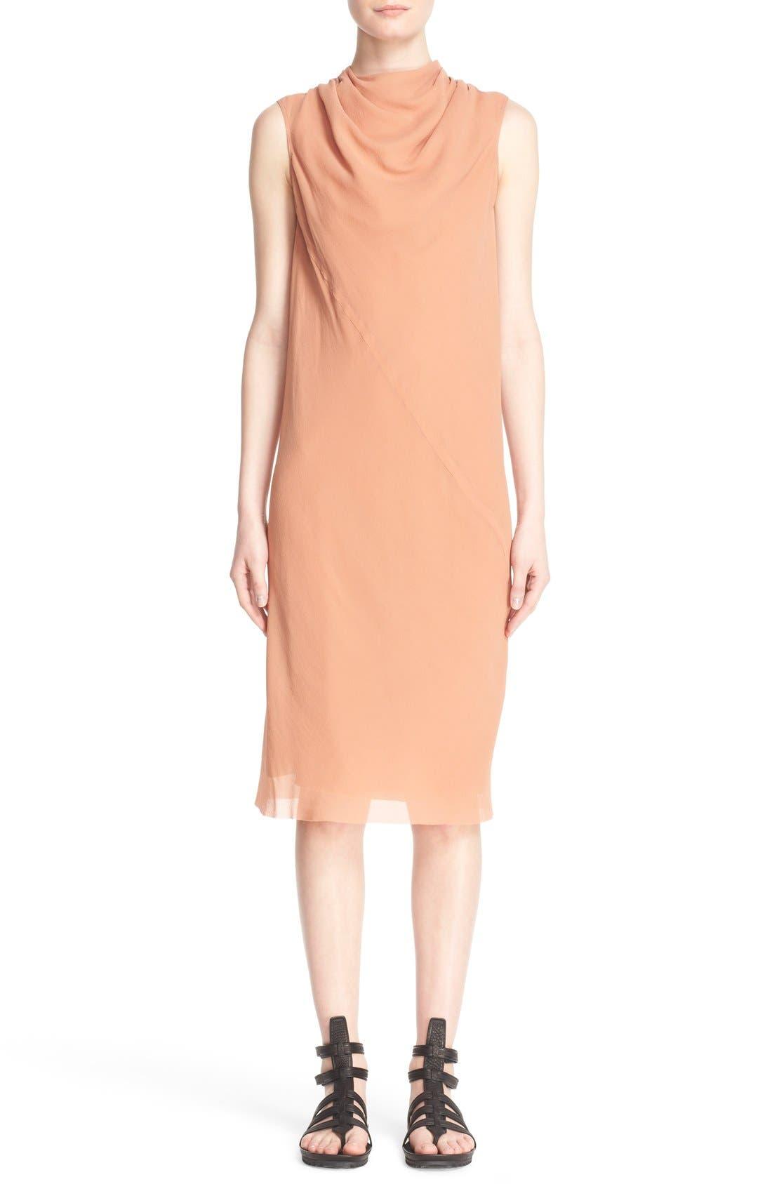 Main Image - Rick Owens 'Bonnie' Sleeveless Silk Georgette Sheath Dress