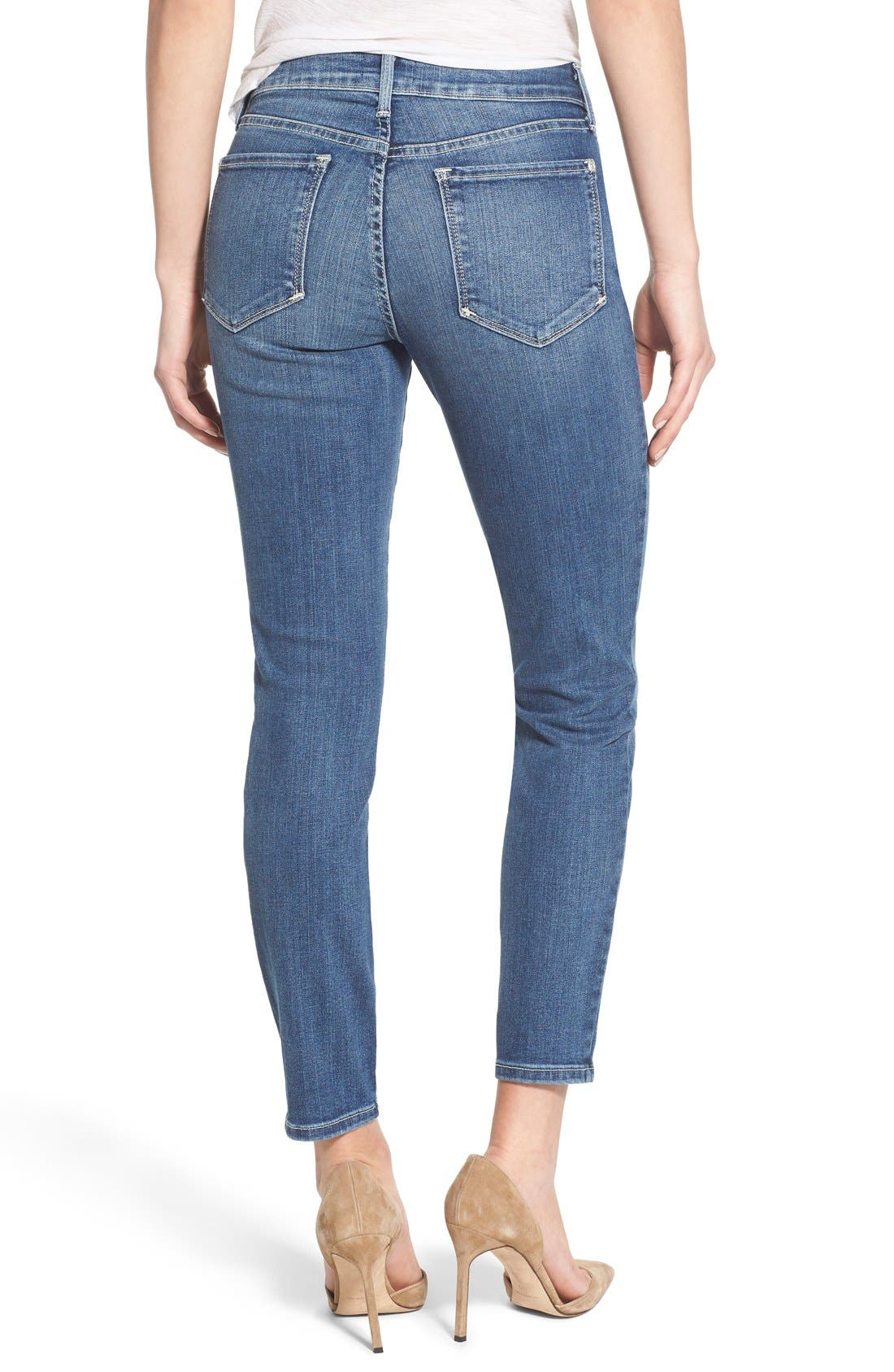 'Clarissa' Stretch Ankle Skinny Jeans,                             Alternate thumbnail 2, color,                             Heyburn