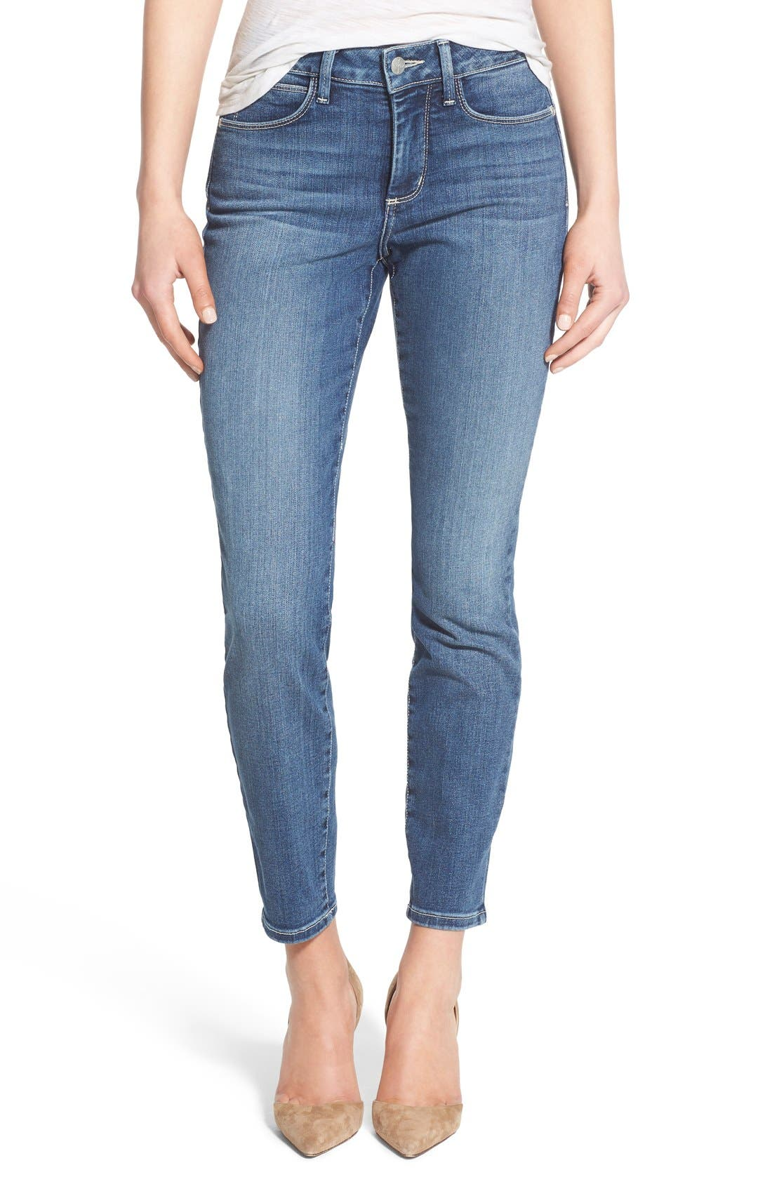 'Clarissa' Stretch Ankle Skinny Jeans,                             Main thumbnail 1, color,                             Heyburn