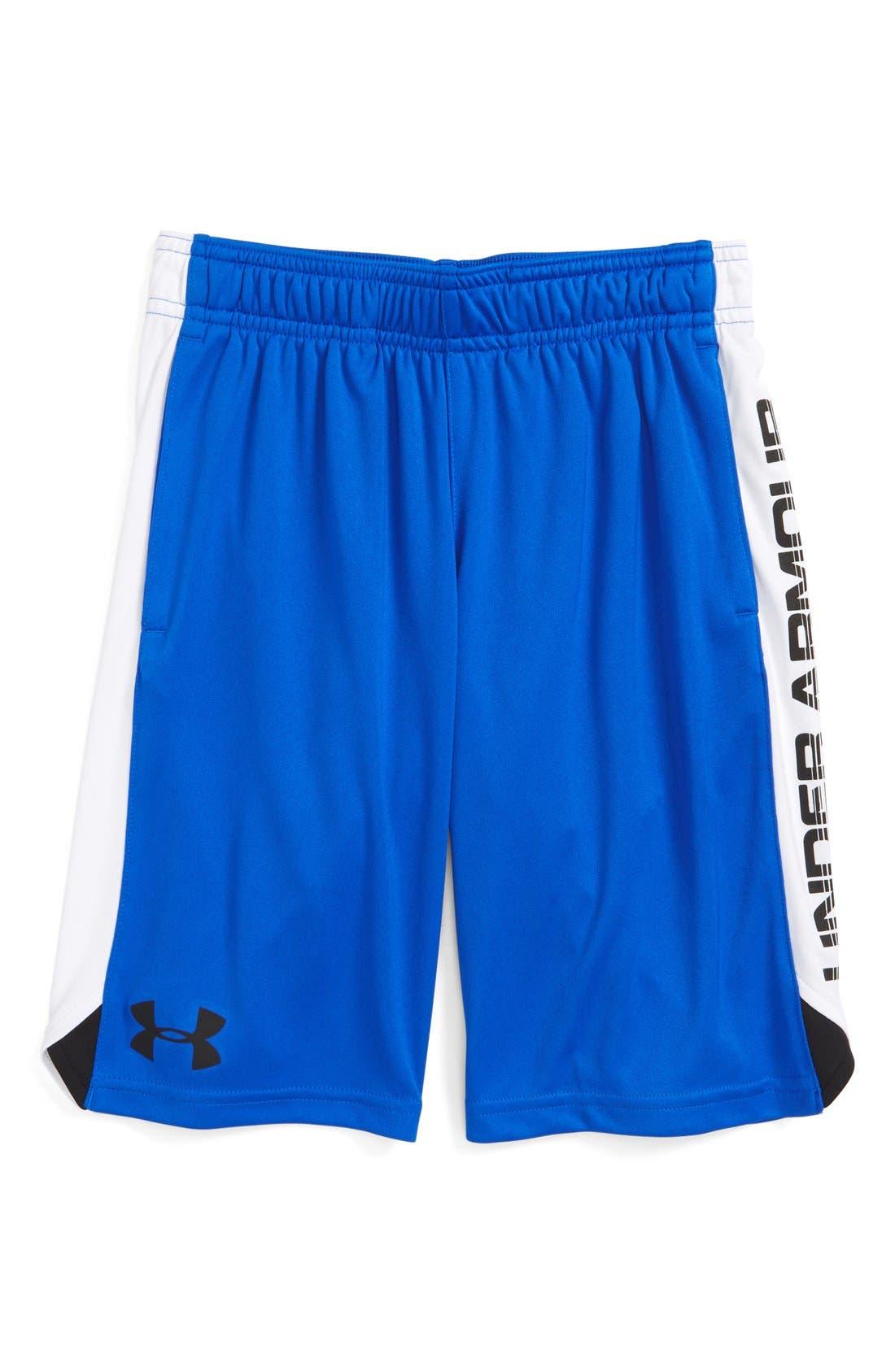 'Eliminator' HeatGear<sup>®</sup> Shorts,                         Main,                         color, Ultra Blue