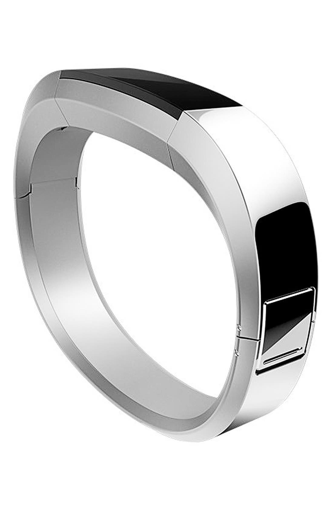 'Alta' Stainless Steel Accessory Band,                         Main,                         color, Silver