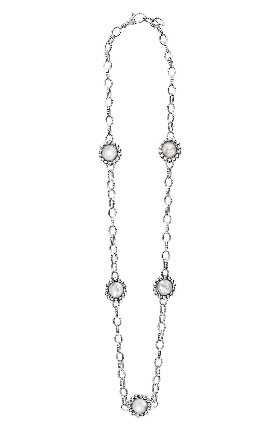 'Maya' Station Necklace,                         Main,                         color, Howlite