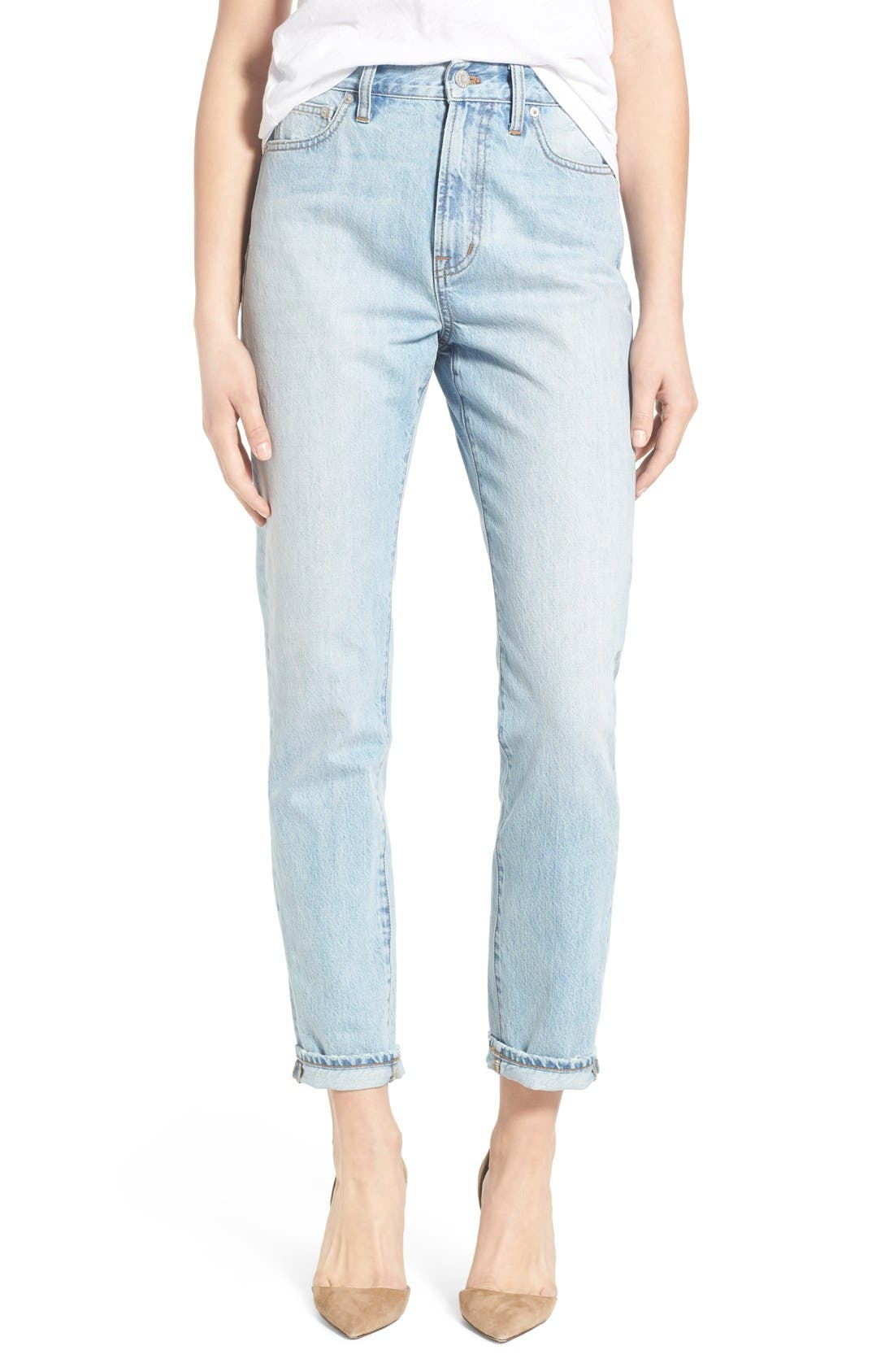'Perfect Summer' High Rise Ankle Jeans,                             Main thumbnail 1, color,                             Fitzgerald Wash