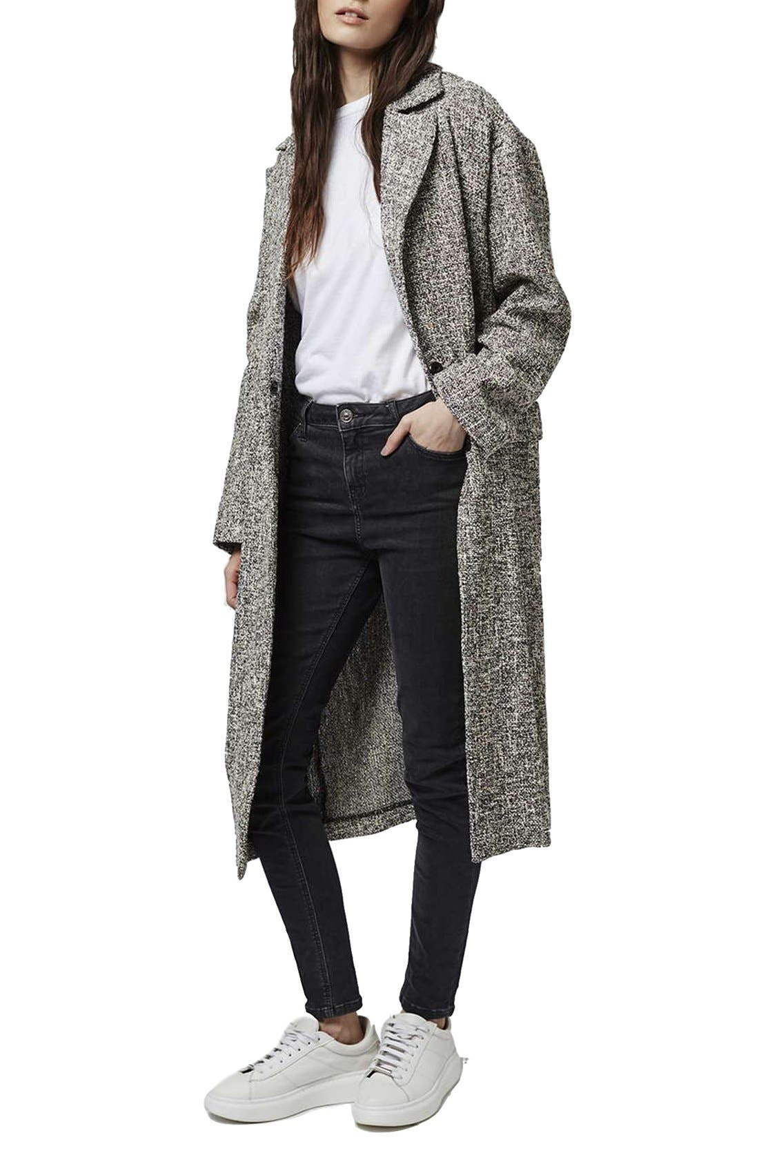 Alternate Image 1 Selected - Topshop Marled Coat