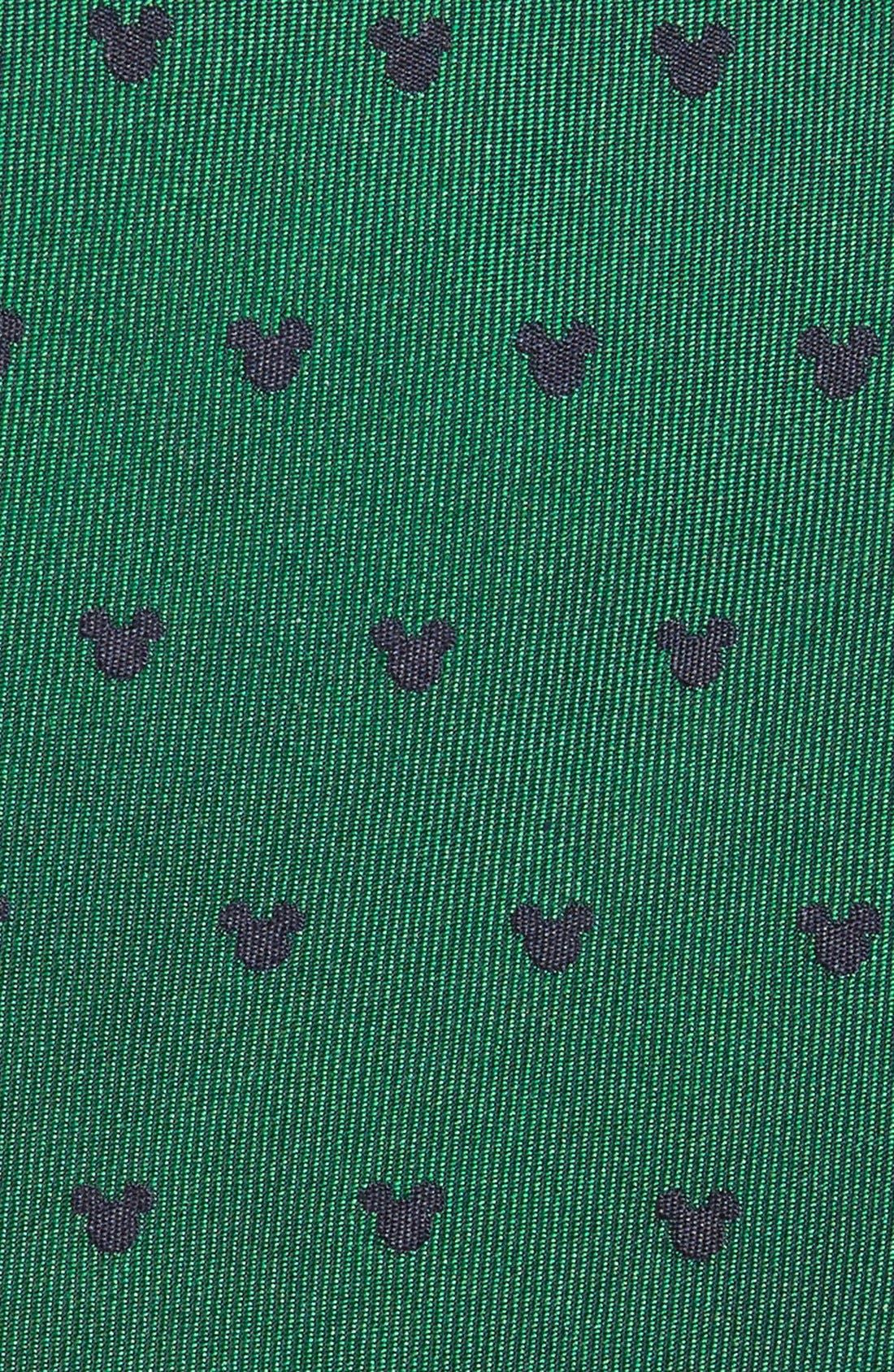 'Disney - Mickey Mouse' Silk Tie,                             Alternate thumbnail 2, color,                             Green