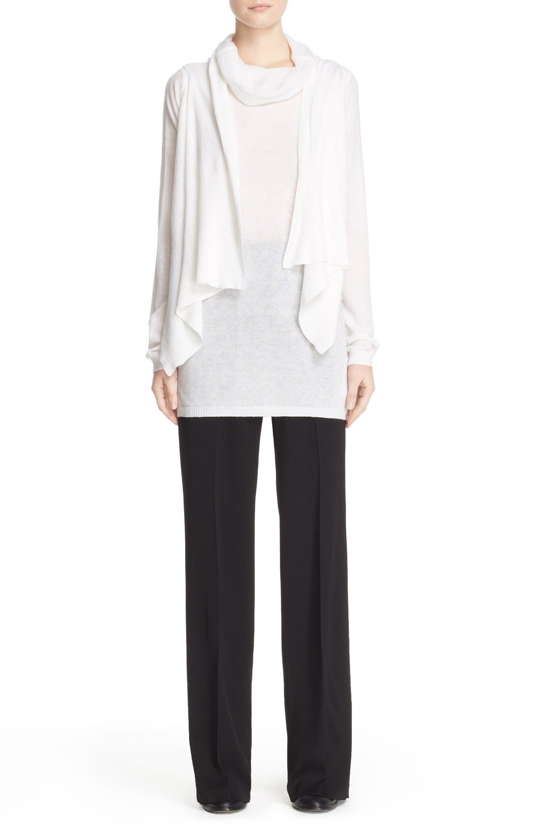 Alternate Image 7  - Rick Owens Drape Front Cotton & Cashmere Cardigan