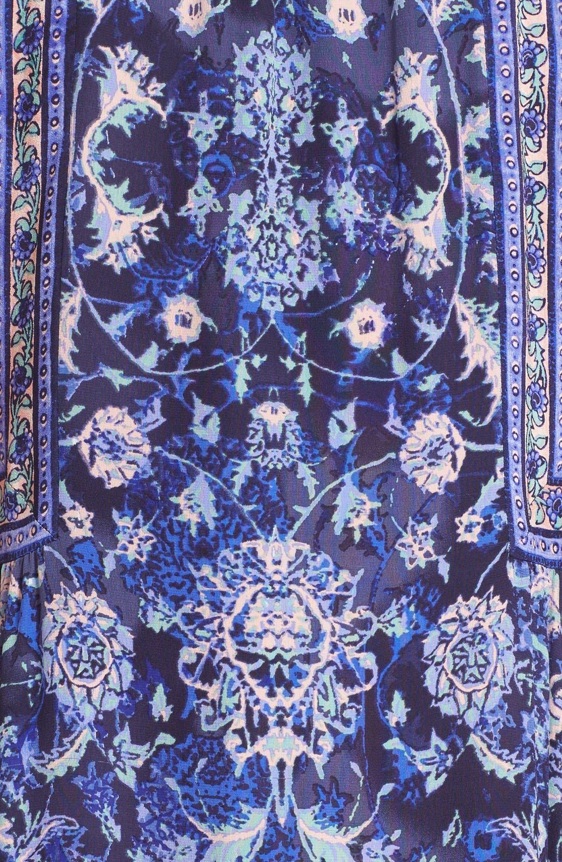 Alternate Image 5  - Rebecca Taylor 'Dreamweaver' Print Silk Midi Dress
