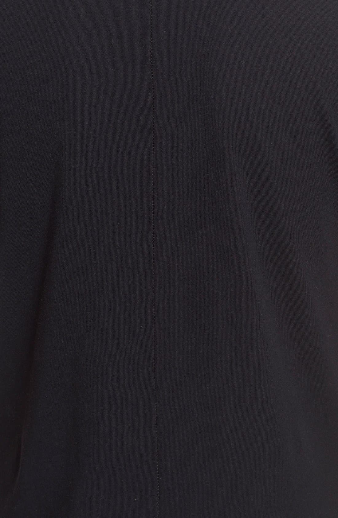 'Base' Cotton V-Neck Tee,                             Alternate thumbnail 4, color,                             Black