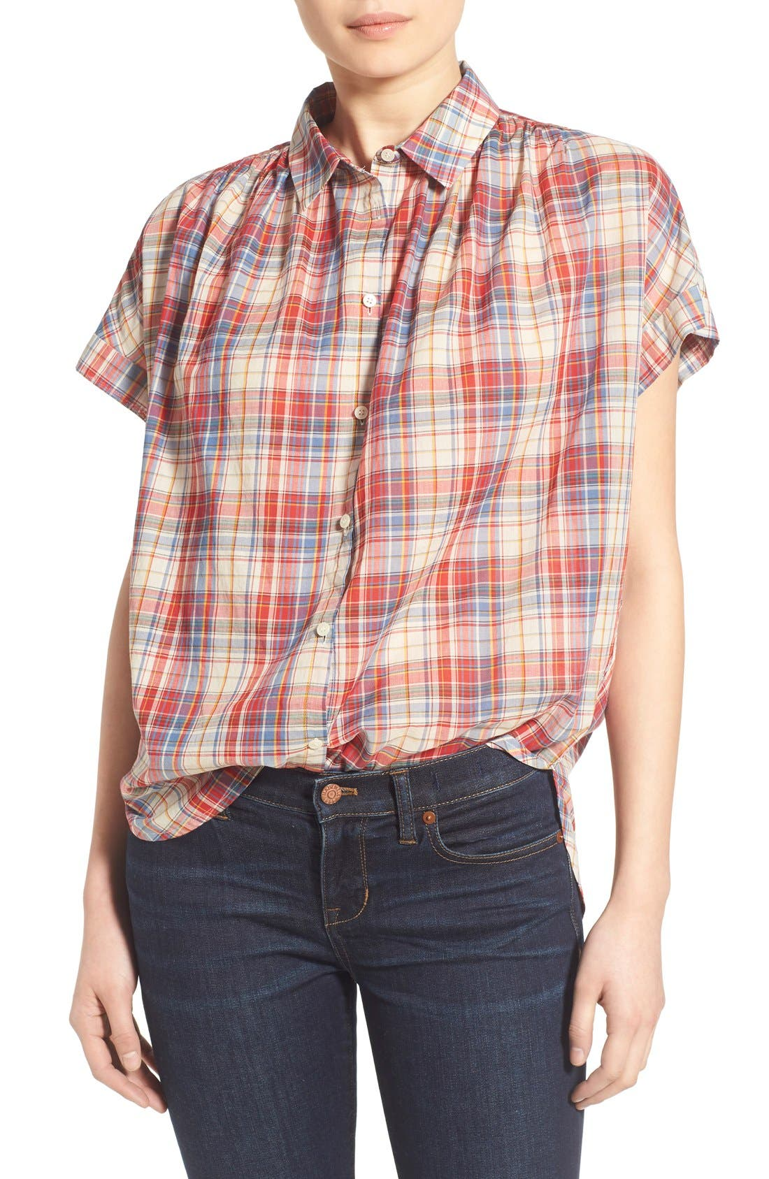 Main Image - Madewell Plaid Boxy Cotton Shirt