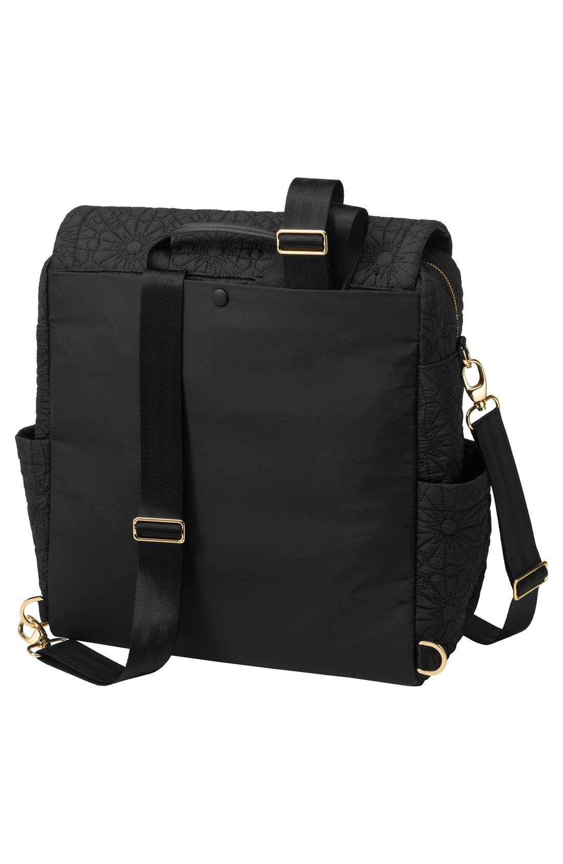 'Embossed Boxy' Backpack Diaper Bag,                             Alternate thumbnail 2, color,                             Bedford Special Edition