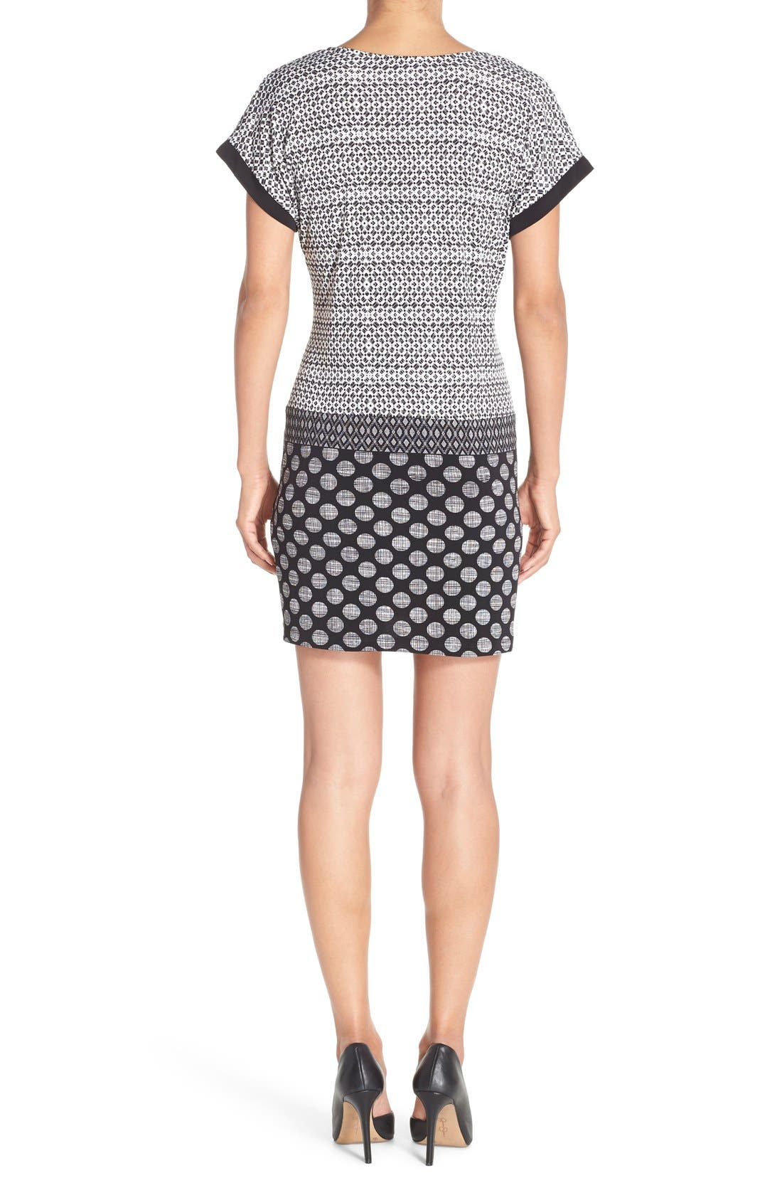 Alternate Image 2  - London Times Mixed Print Jersey Shift Dress