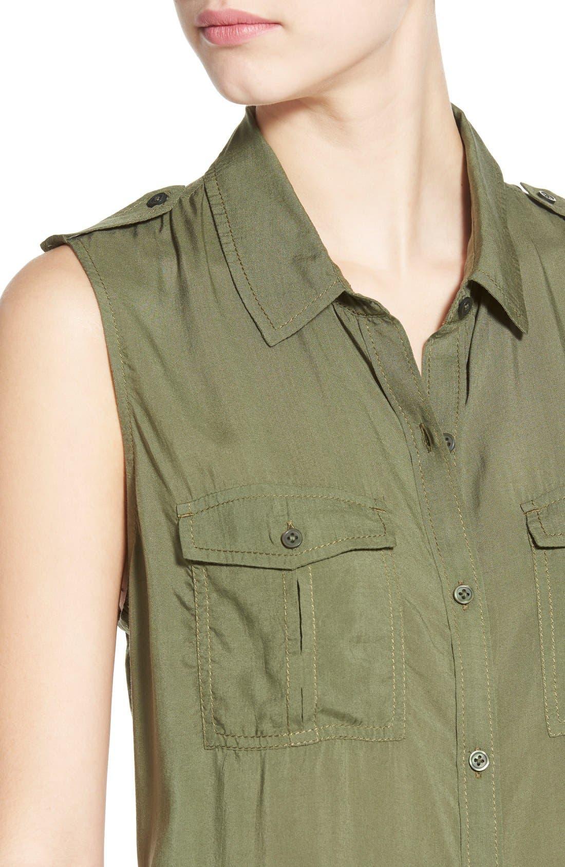 Alternate Image 4  - BP. Sleeveless Safari Shirt