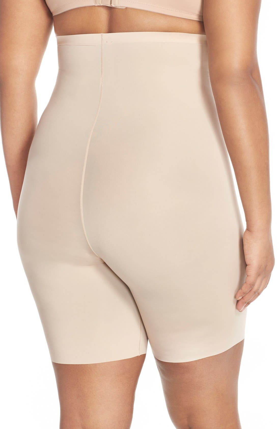 Alternate Image 2  - SPANX® Thinstincts™ High Waist Mid-Thigh Shorts (Plus Size)
