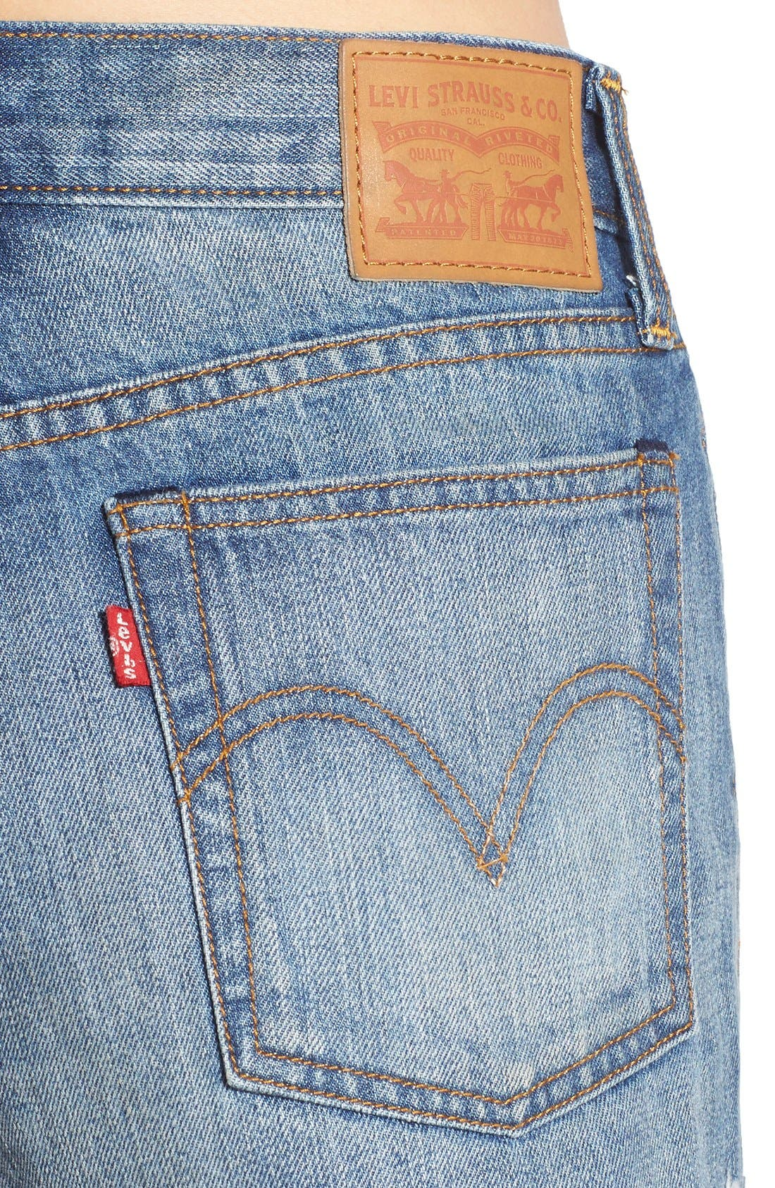 Alternate Image 4  - Levi's® High Rise Cutoff Shorts