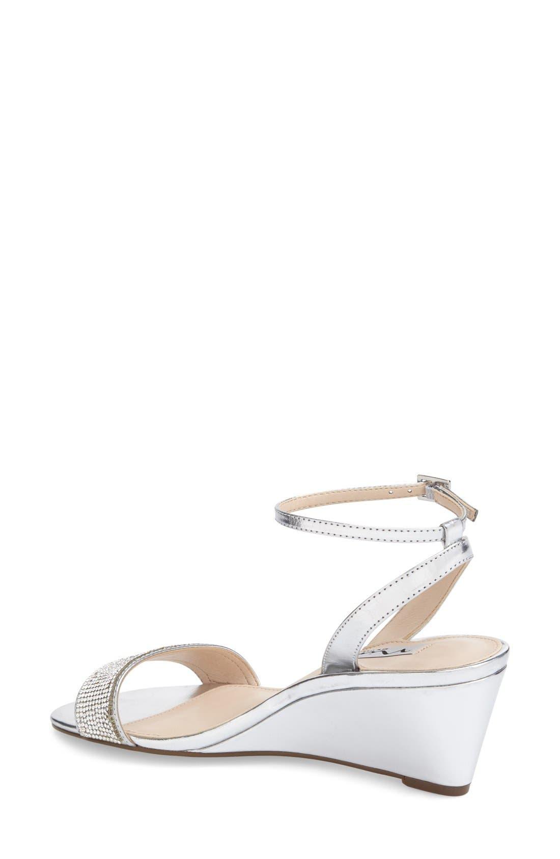 Alternate Image 2  - Nina 'Novia' Embellished Wedge Sandal (Women)