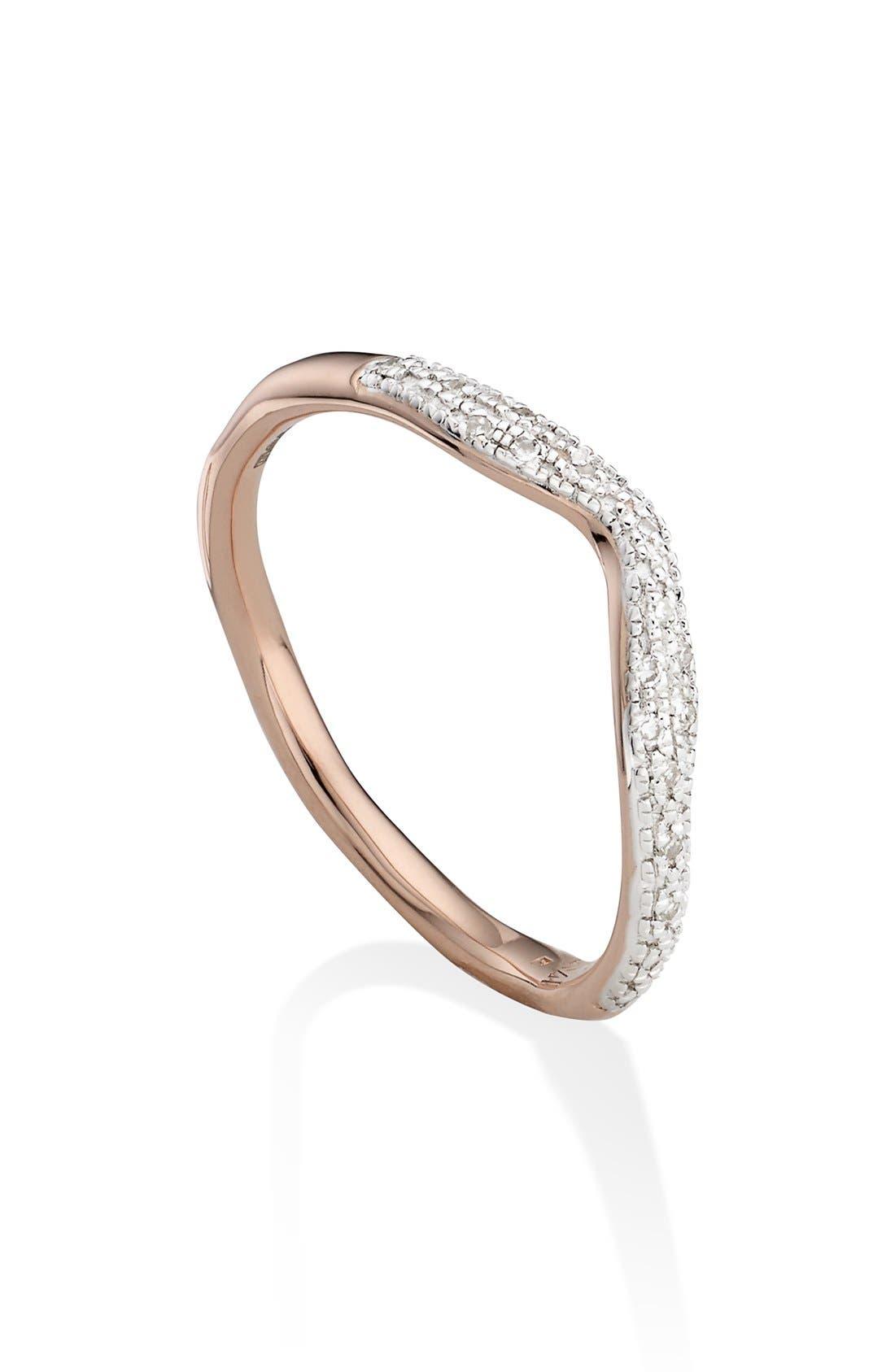 Monica Vinader 'Riva' Diamond Stacking Ring