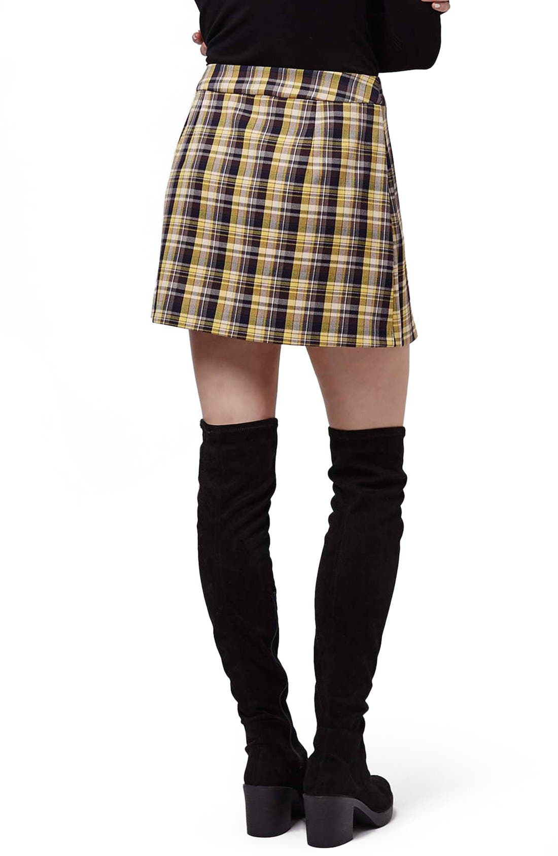 Alternate Image 3  - Topshop Plaid Kilt Miniskirt