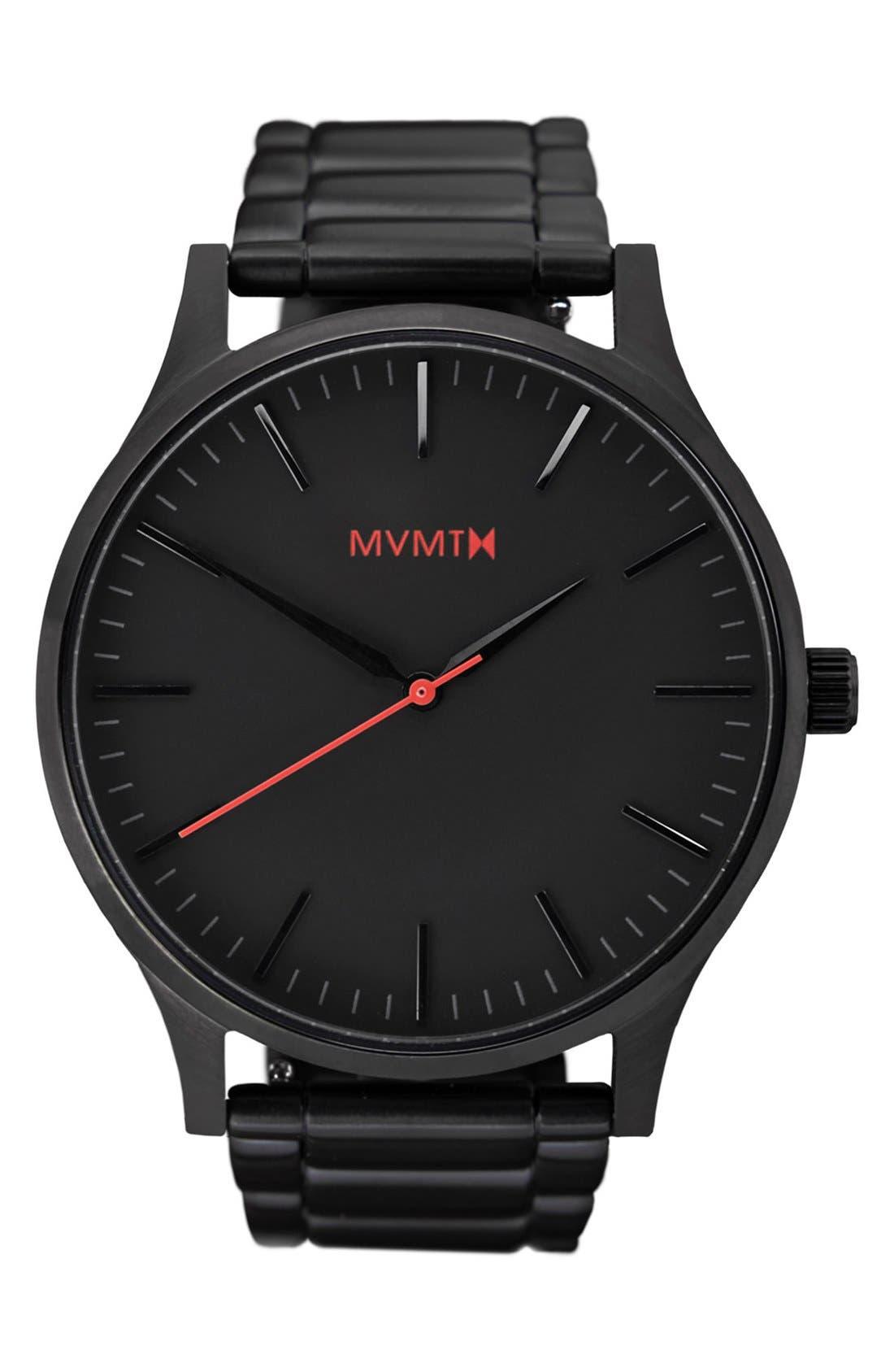 Bracelet Watch, 40mm,                             Main thumbnail 1, color,                             Black/ Black