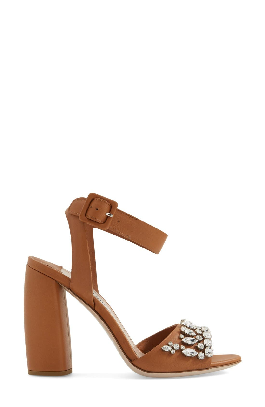 Alternate Image 4  - Miu Miu 'Jewel' Sandal (Women)