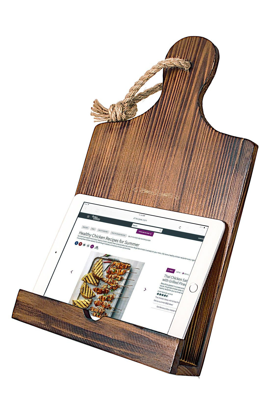 'Mother's Day' Wooden Tablet/Book Stand,                             Alternate thumbnail 3, color,                             Brown