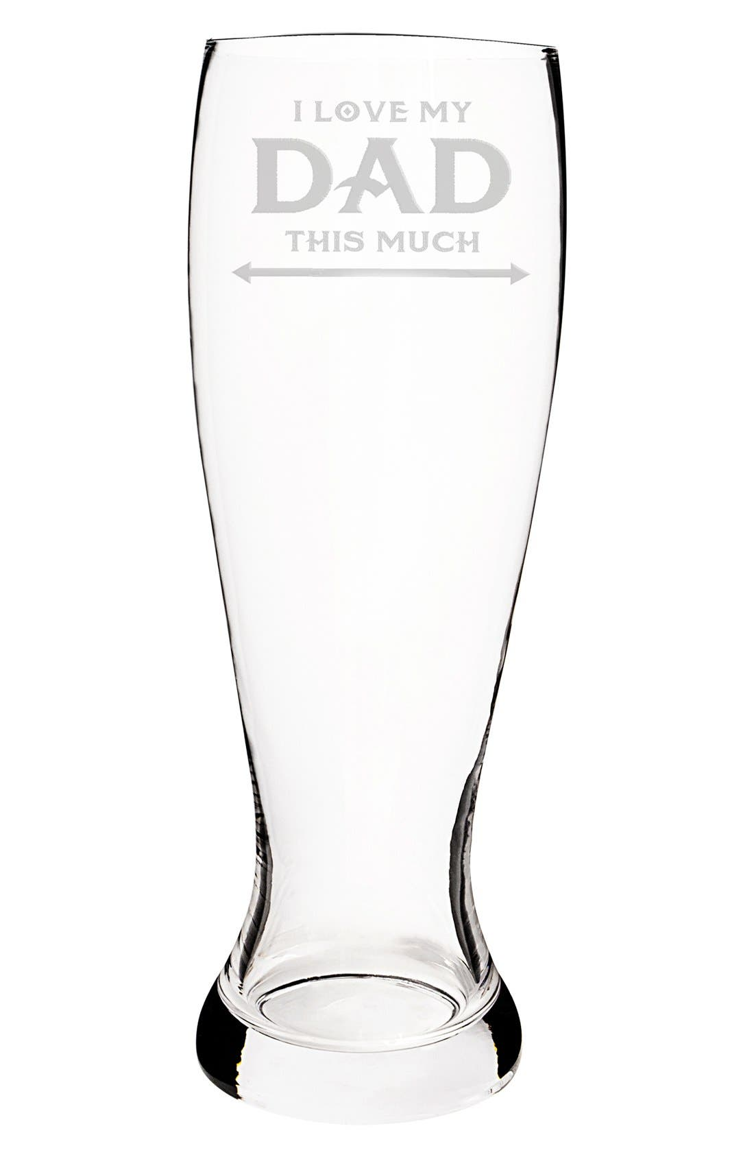 'Father's Day' Pilsner Glass,                             Alternate thumbnail 2, color,                             Clear