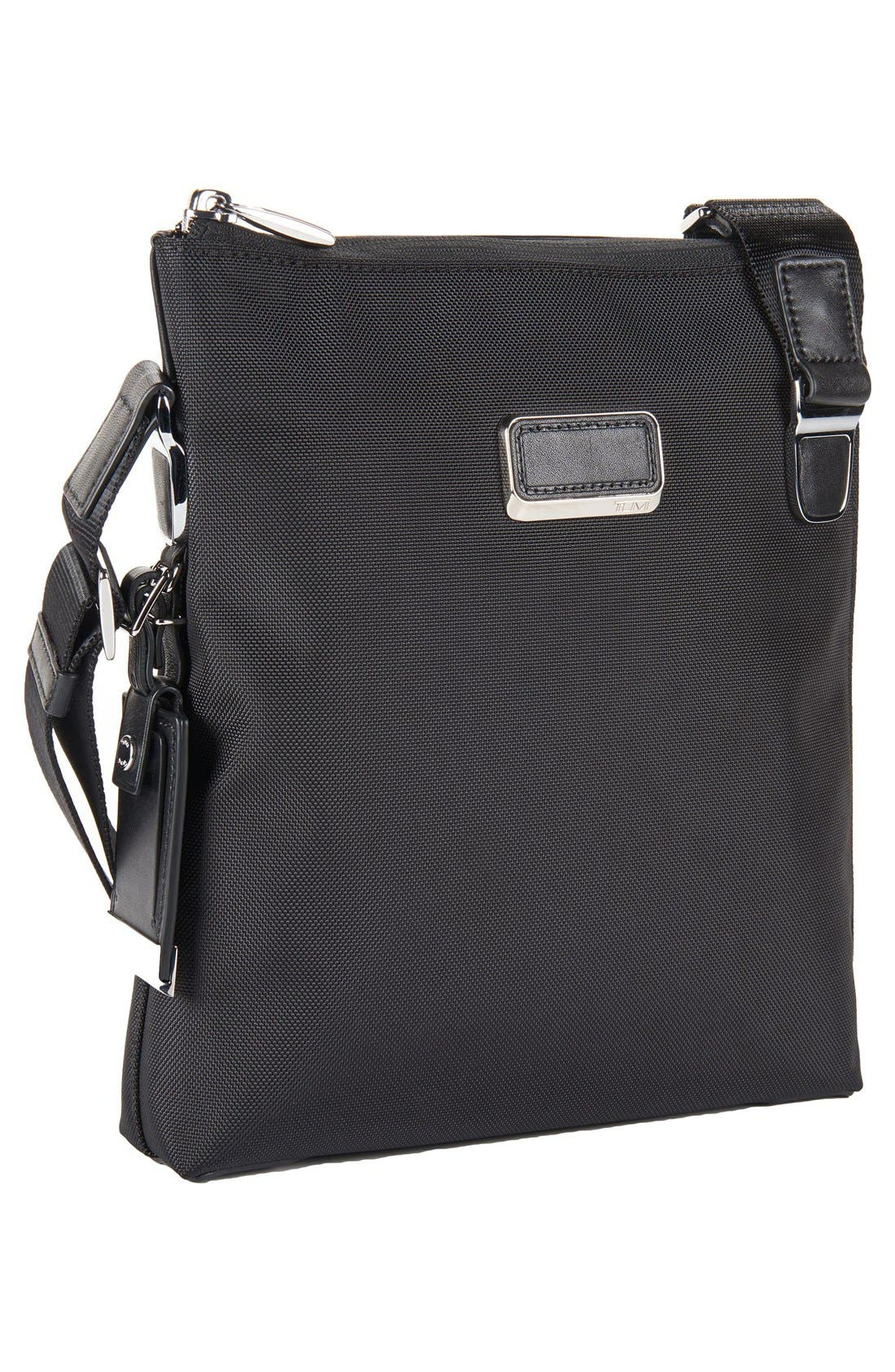 Arrivé - Owen Crossbody Bag,                             Alternate thumbnail 3, color,                             Black