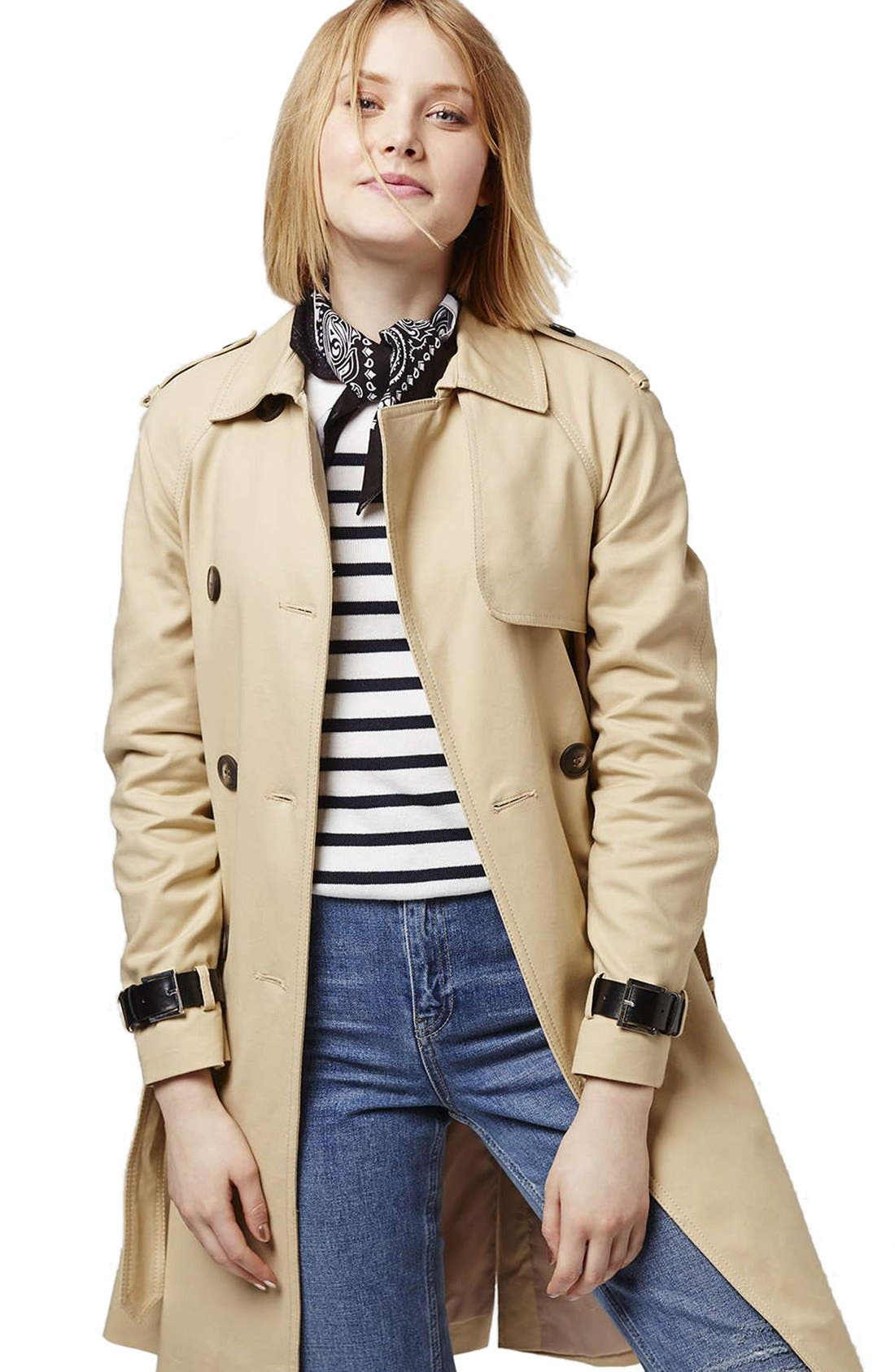 Alternate Image 5  - Topshop Military Trench Coat