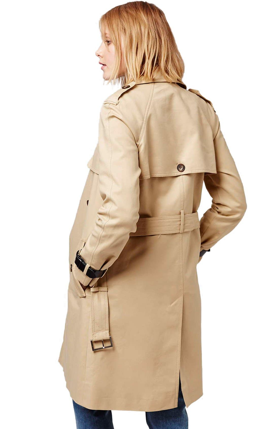 Alternate Image 3  - Topshop Military Trench Coat
