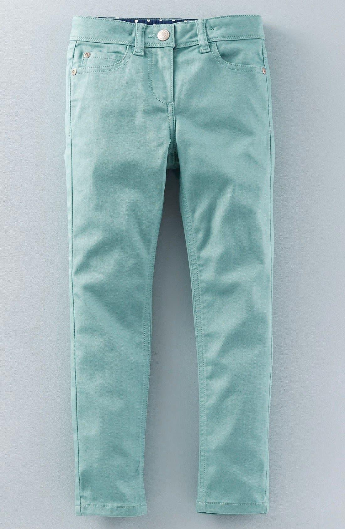 Alternate Image 1 Selected - Mini Boden Super Skinny Fit Jeans (Toddler Girls, Little Girls & Big Girls)