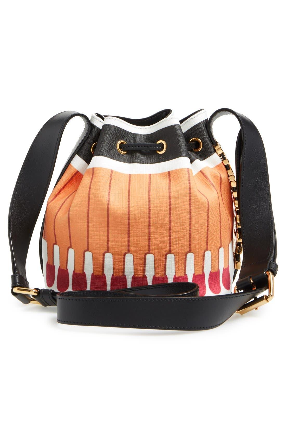 'It's Lit Matchbook' Bucket Bag,                             Alternate thumbnail 3, color,                             Multicolor