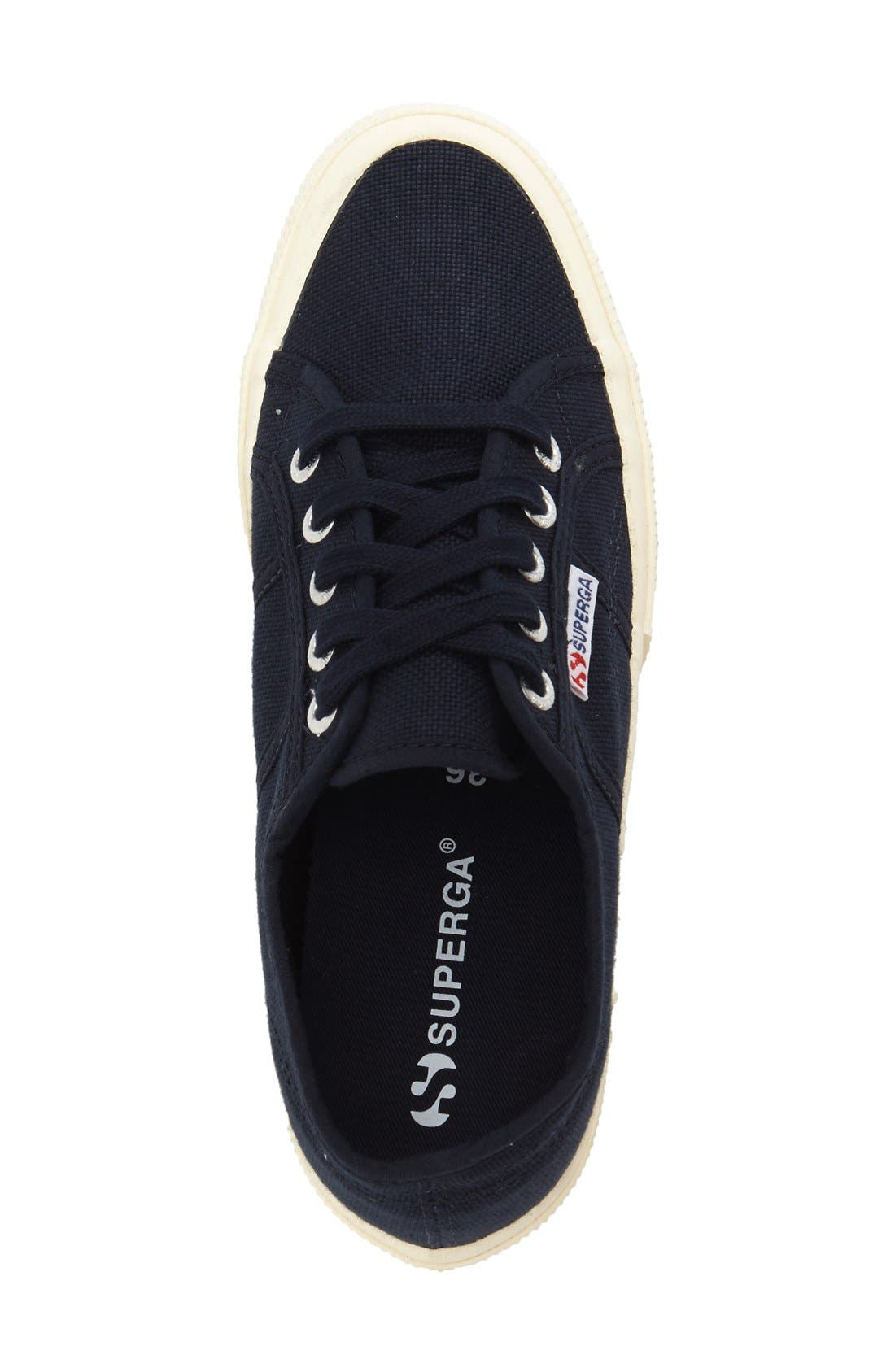 'Linea' Wedge Sneaker,                             Alternate thumbnail 3, color,                             Navy