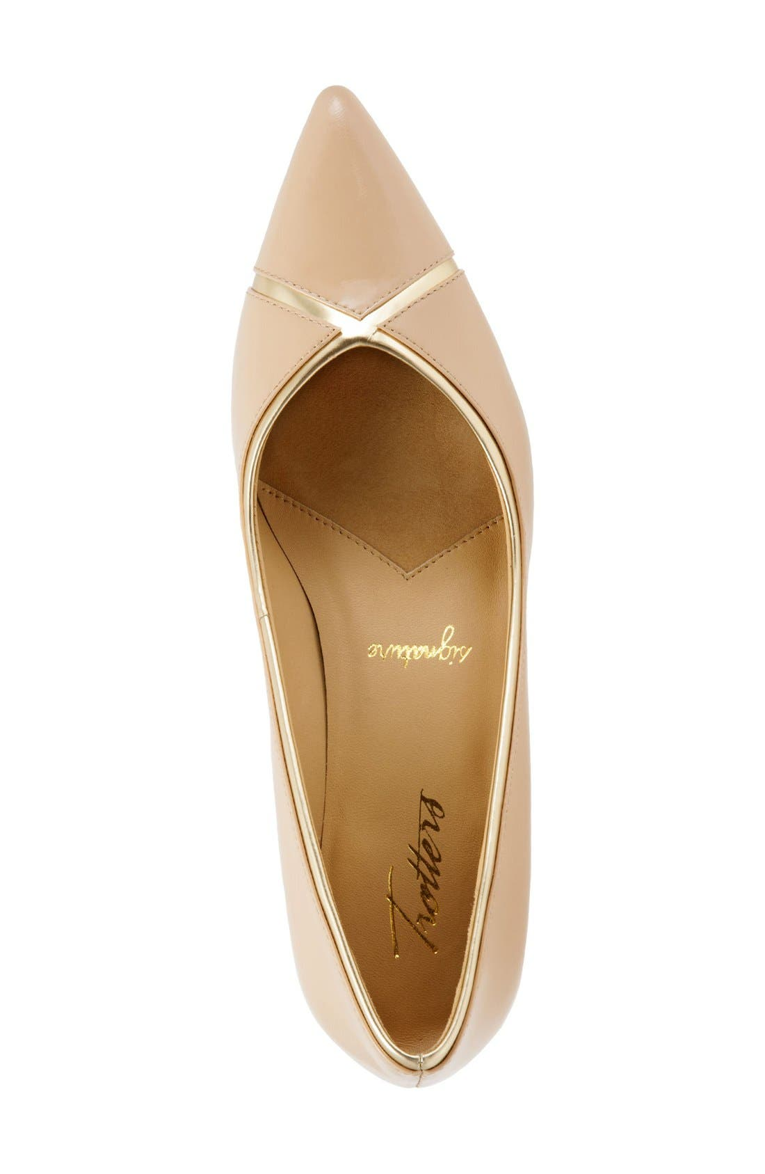 'Kelsey' Pointy Toe Pump,                             Alternate thumbnail 3, color,                             Nude
