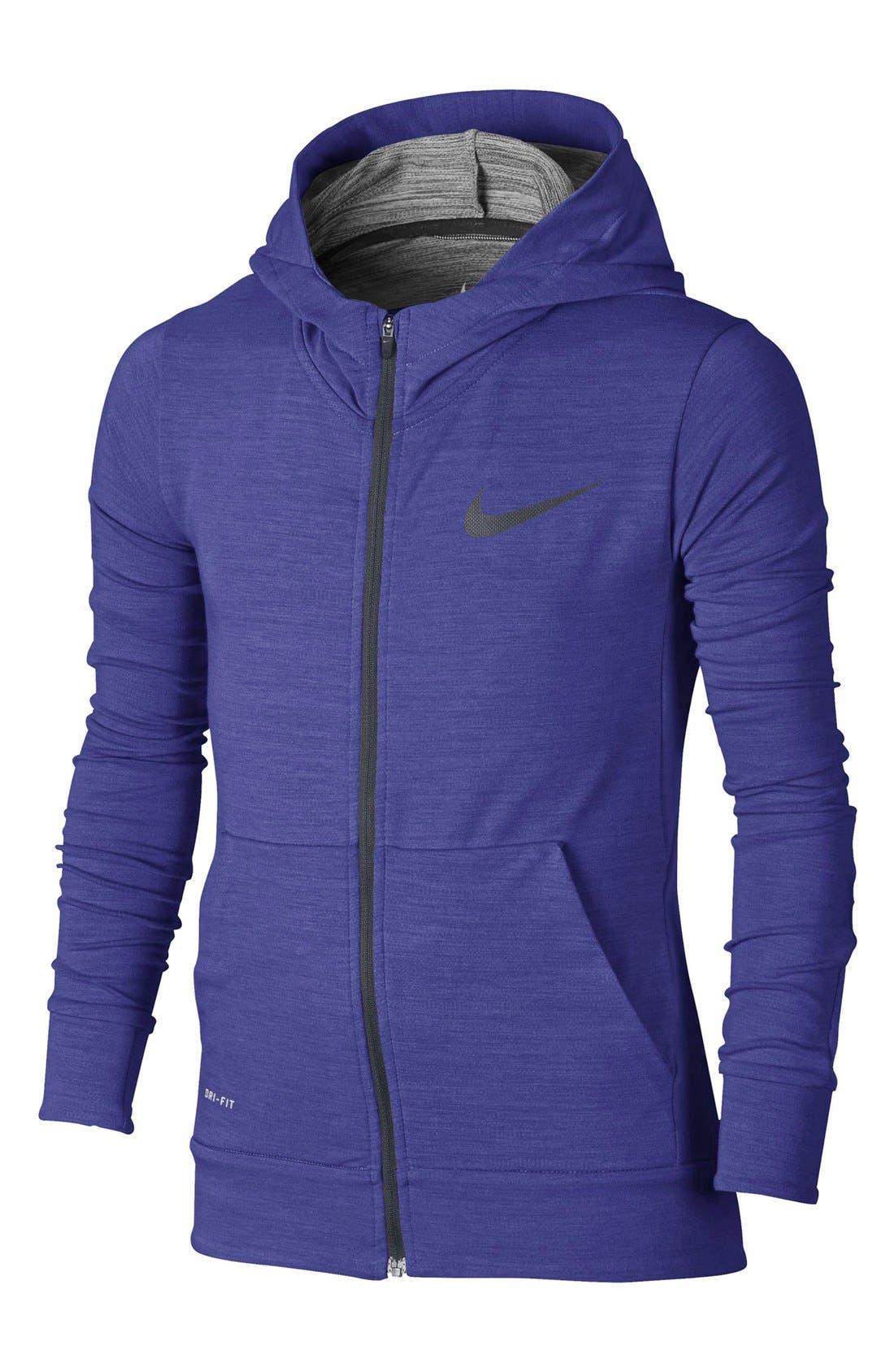 Main Image - Nike Dri-FIT Fleece Training Hoodie (Little Boys & Big Boys)