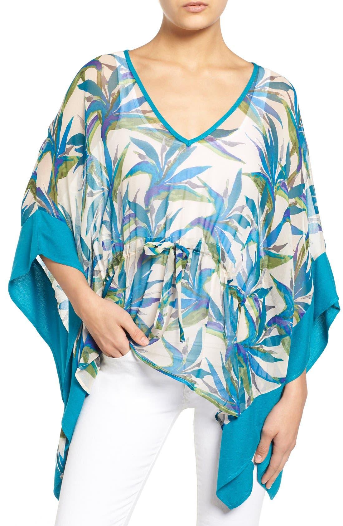 Alternate Image 1 Selected - Ella Moss Print Silk Tunic Top