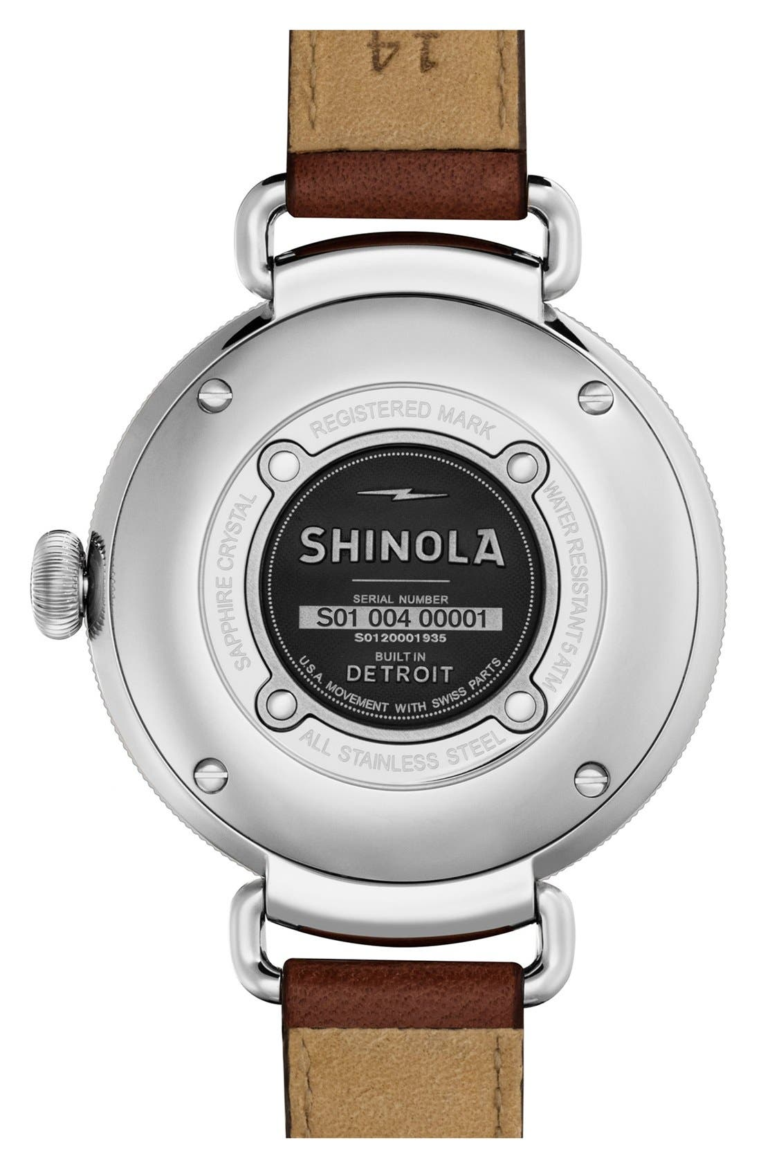 Alternate Image 2  - Shinola The Canfield Leather Strap Watch, 38mm